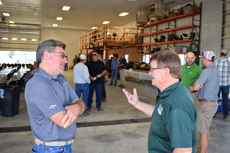 RMA Administrator Martin Barbre talks with Ken Lamont and other farmers in Southern Illinois, 2019