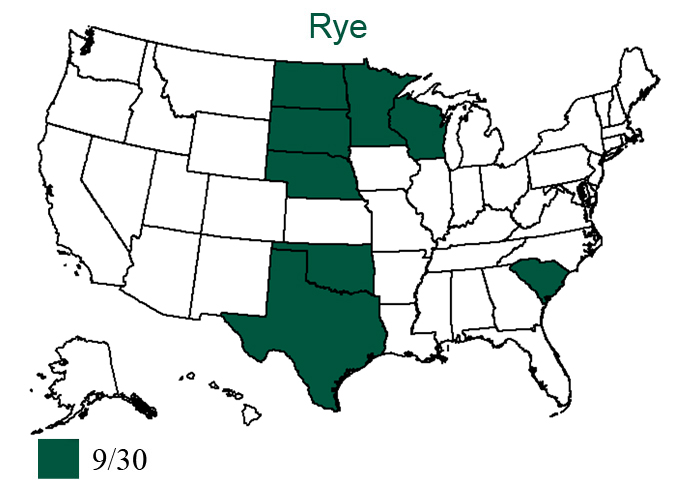 Small Grains - Rye Map