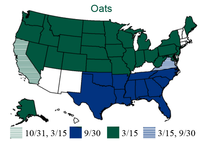 Small Grains - APH Oats Map