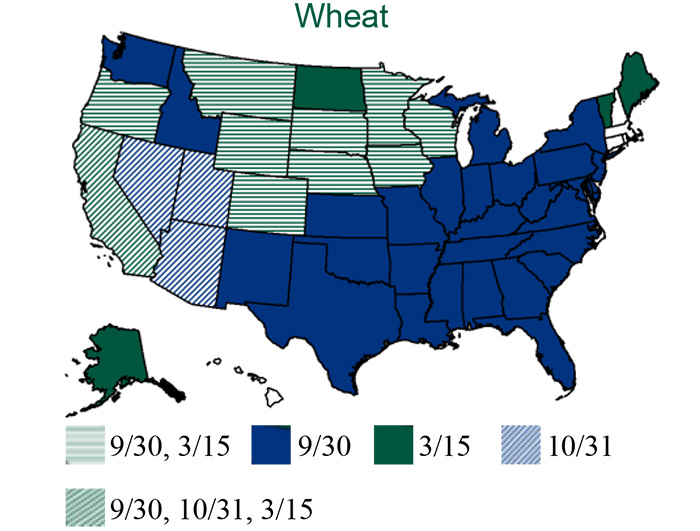 Small Grains RPYP Wheat Map